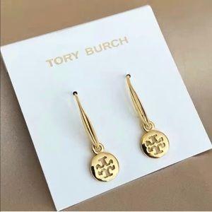 Tory Burch gold hook earrings
